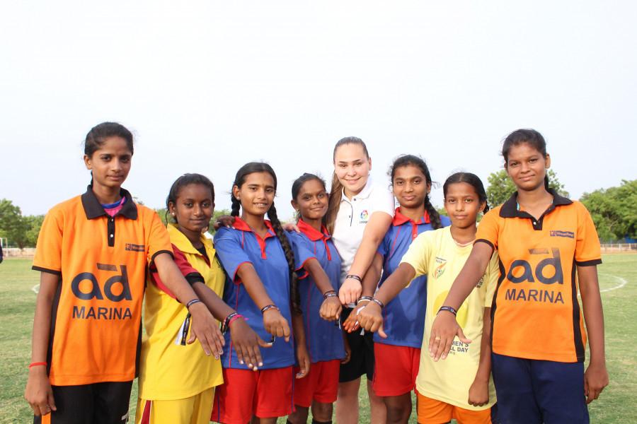 El Betis Féminas crea escuela en Anantapur