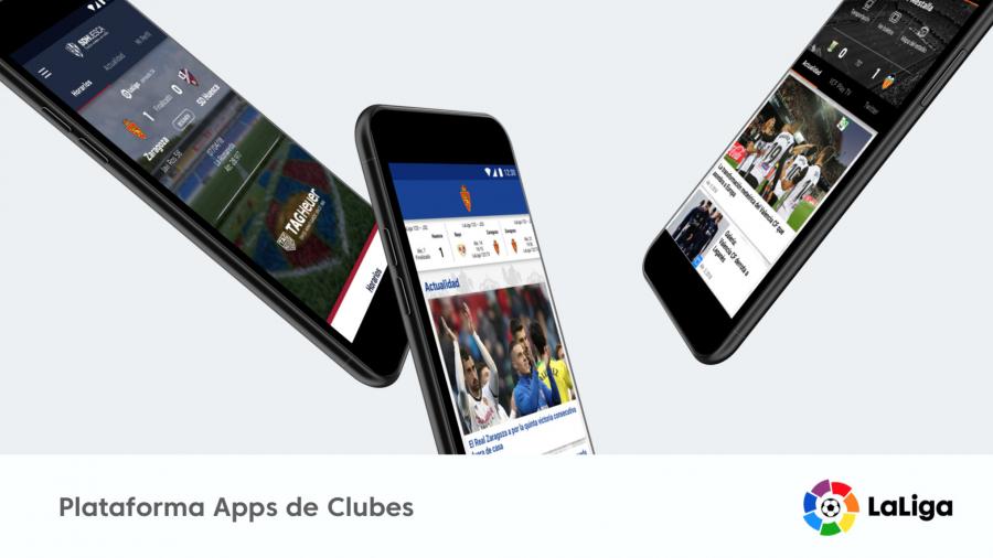 Los clubes de LaLiga estrenan la 'app' más puntera del mercado