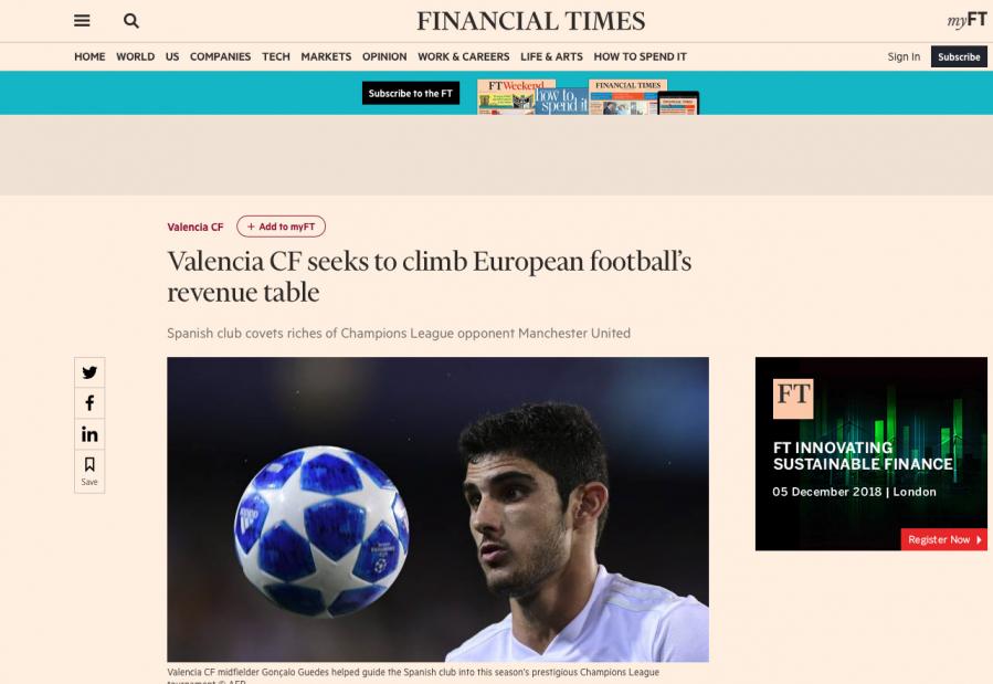 BBC, Financial Times y BT Sport: el 'media day' del Valencia para impactar en UK