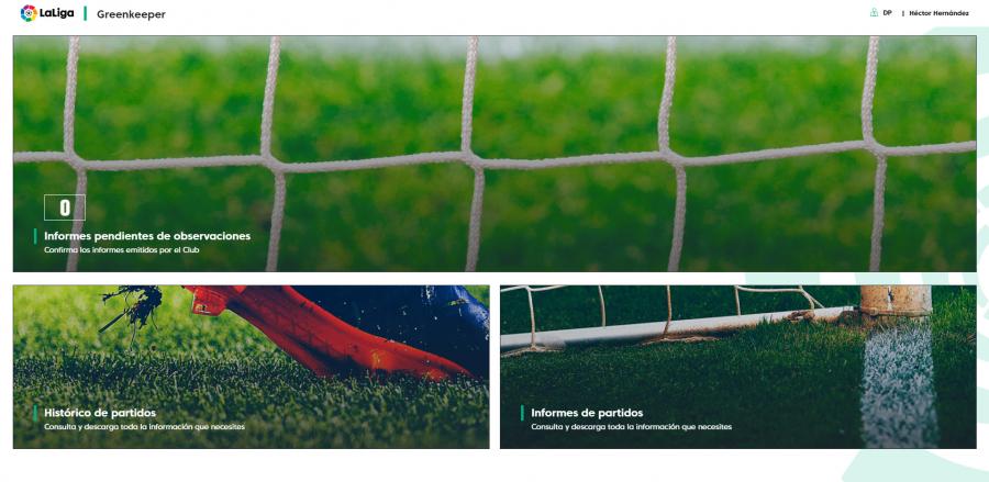 Greenkeeper, la 'app' creada por LaLiga que ayuda a mejorar la calidad del césped de los estadios de la competición