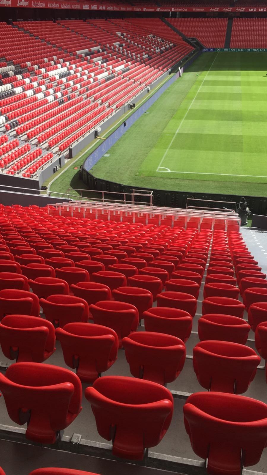 Los asientos 'safe standing' llegan a San Mamés