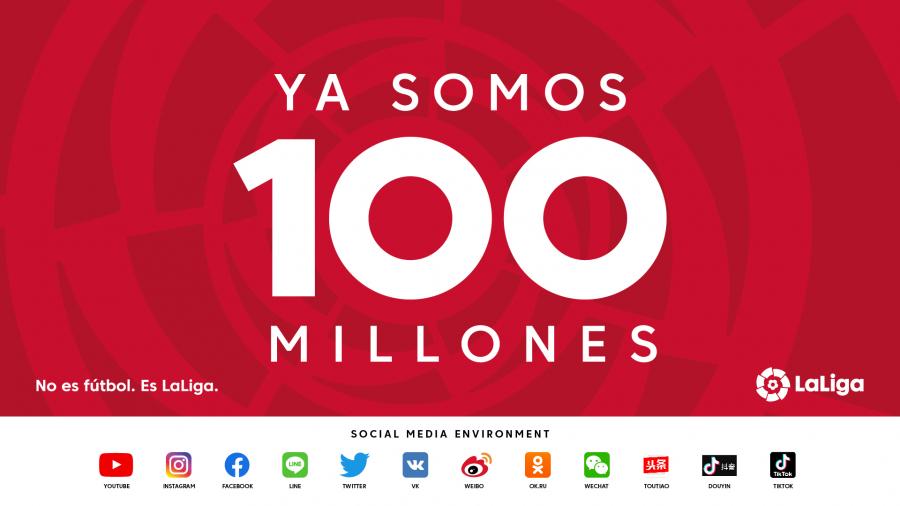 100 millones de seguidores: el nuevo récord digital de LaLiga