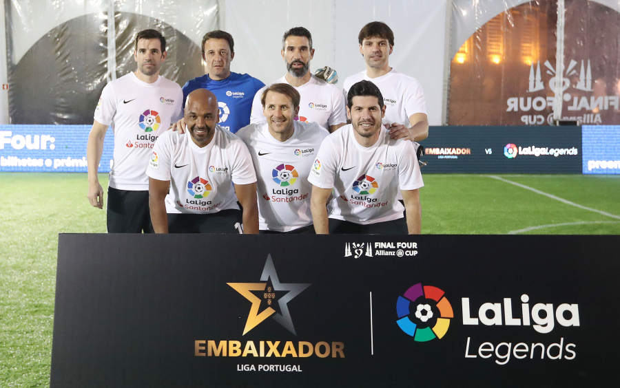 Partnership between the top leagues of Spain and Portugal celebrated by legends
