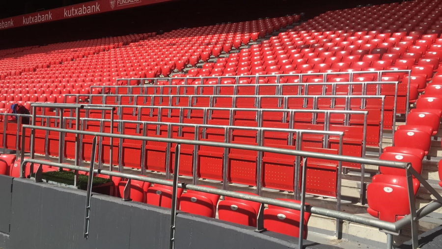 Safe standing arrives in Spain at San Mamés in Bilbao