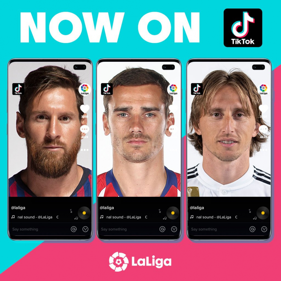 LaLiga arrives on TikTok, the fastest-growing social network