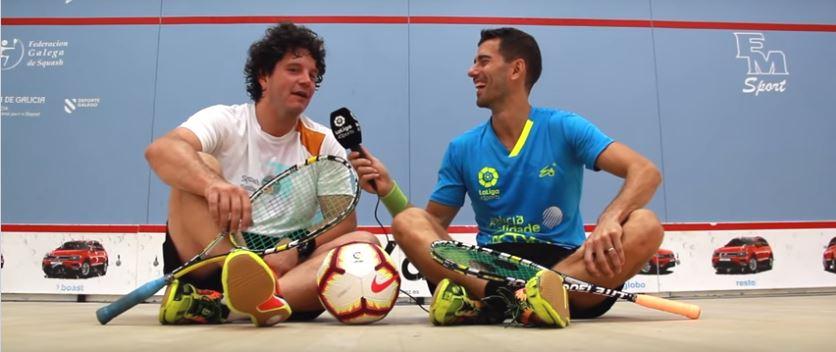 Borja Golán y Touriñán, squash entre gallegos