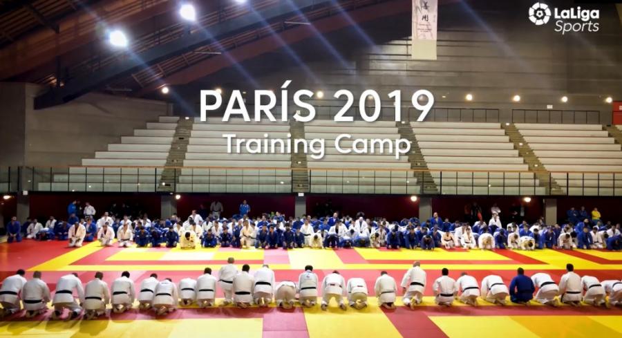 El training camp de judo de París