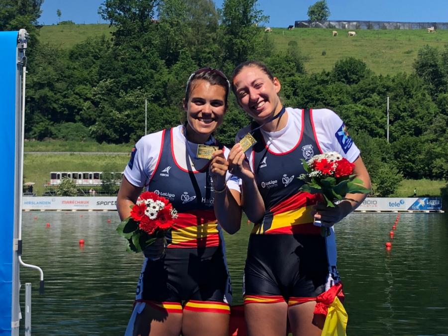 Aina Cid y Virginia Díaz, campeonas de Europa de remo en Lucerna