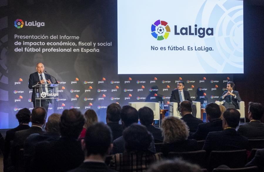 La industria del fútbol profesional genera 185.000 empleos, 4.100 M€ en impuestos y una facturación equivalente al 1,37% del PIB en España