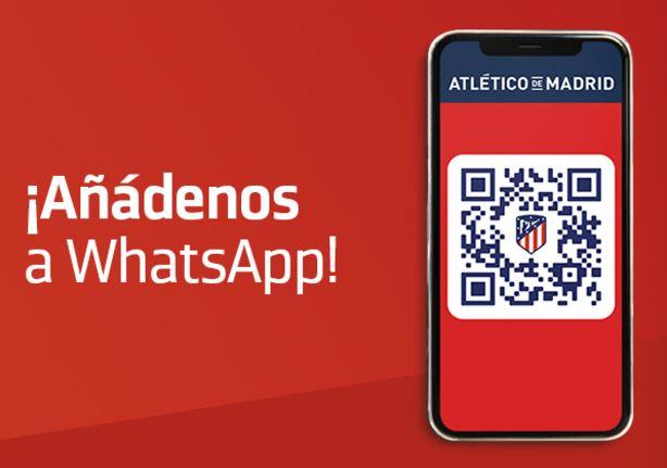 El Atlético de Madrid innova en WhatsApp
