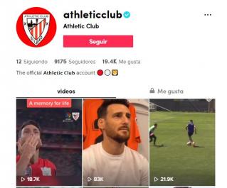 El Athletic Club llega a TikTok para conectar con nuevas audiencias