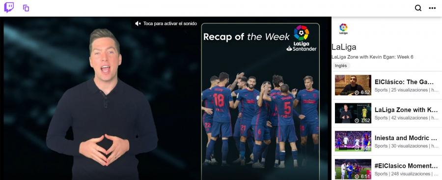 LaLiga se convierte en la primera liga deportiva europea en unirse a Twitch