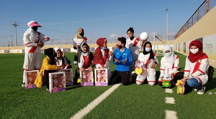 Más de 35.000 juguetes llegan al campo de refugiados de Za'atari para el Día Universal del Niño