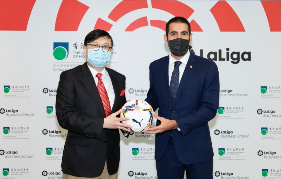 OUHK signs MOU with LaLiga to support development of future sports leaders