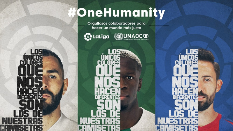 LaLiga se une a la Alianza de Civilizaciones de Naciones Unidas (UNAOC) en la campaña ONE HUMANITY para promover el cambio global