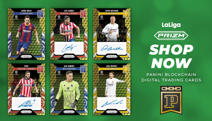 LaLiga trading cards now available through Panini blockchain environment