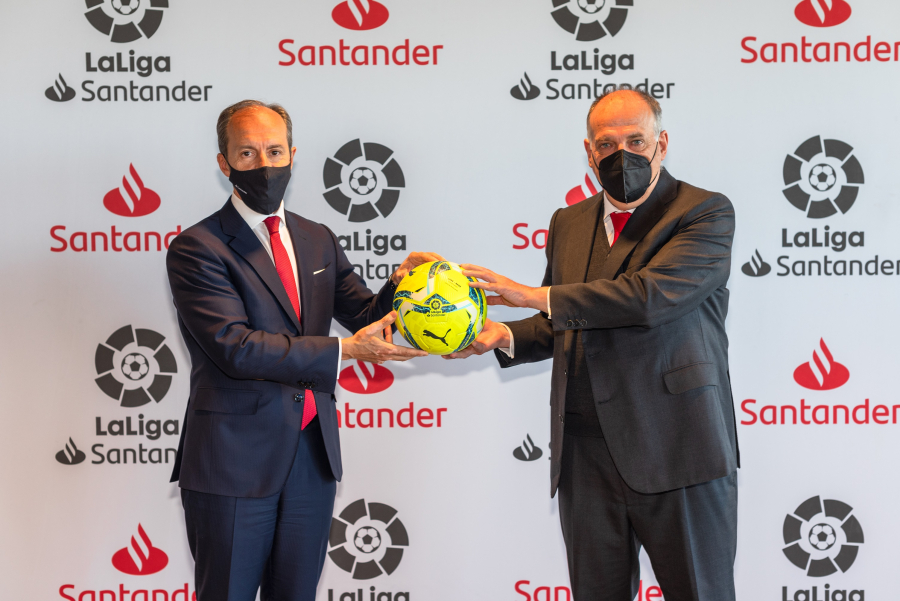 LaLiga and Banco Santander renew their collaboration agreement